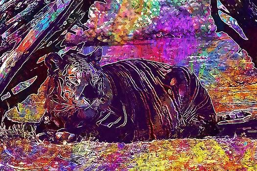 Tiger Predator World  by PixBreak Art