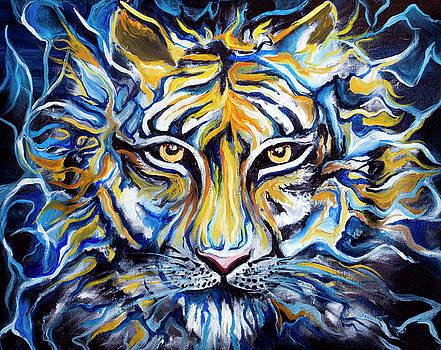 Tiger Reflection by Renee Sarasvati