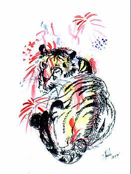 Tiger siesta by Peter Kulik