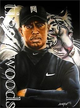 Tiger Woods by Dwayne Lester