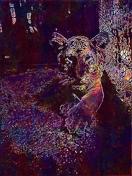 Tiger Zoo Cage Mammal Wildlife  by PixBreak Art