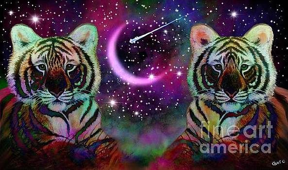 Nick Gustafson - Tigers and Crescent Moon