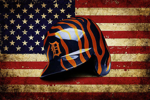 Tigers Batting Helmet by Dan Haraga