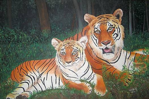 Tigers by Usha Rai