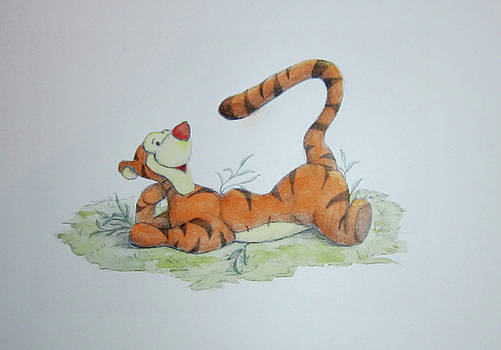 Tigger in the Grass by Steven Powers SMP