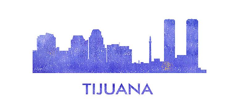Vyacheslav Isaev - Tijuana city purple skyline