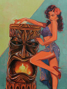Tiki Tarts Fired Up For The Red Pumps by Shawn Shea