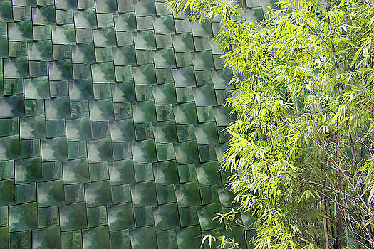 Tile Wall of The Ringling Museum Asian Art Center by Richard Goldman