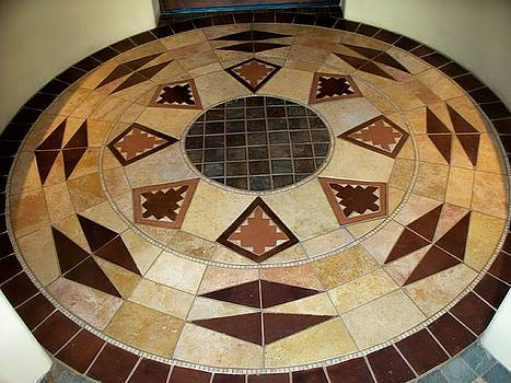 tileArt front foyer by Patrick Trotter