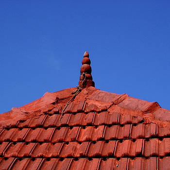 Tiled roof near Ooty, India by Misentropy