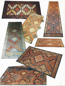 Tiled Rug Kits by Patrick Trotter