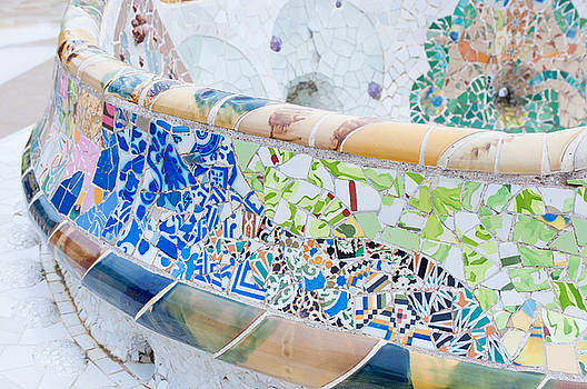 Tiles of Guell Park in Barcelona by Iryna Soltyska