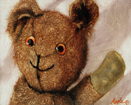 Tillie - vintage bear painting by Linda Apple
