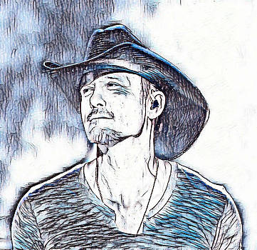 Pd - Tim McGraw Abstract in Blue