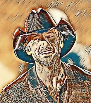 Tim McGraw Painting - Tim McGraw Painting