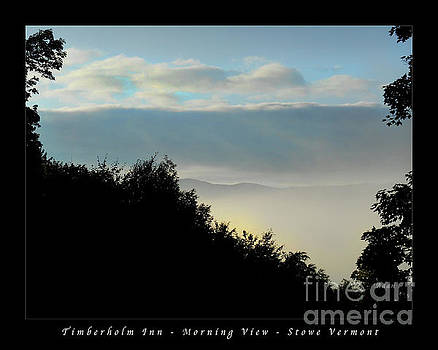 Felipe Adan Lerma - Timberholm Inn Morning View Stowe Vt Poster