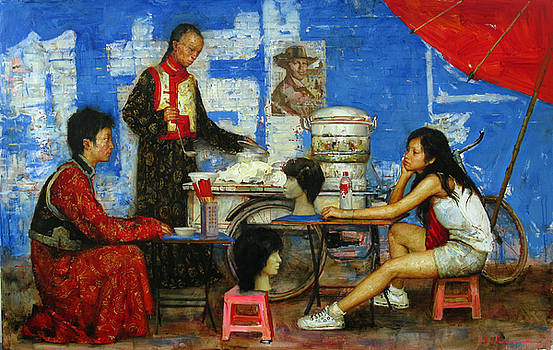Times dinner in Sichuan province by Kartashov Andrey