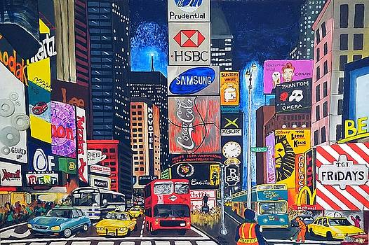 Times Square by Autumn Leaves Art
