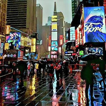 Times Square in the Rain by Richard Hinds