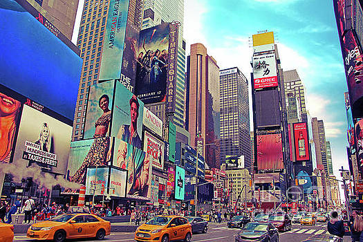 Times Square New York City by Nishanth Gopinathan