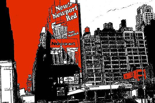 Art America Gallery Peter Potter - New York Billboards - Red White Black