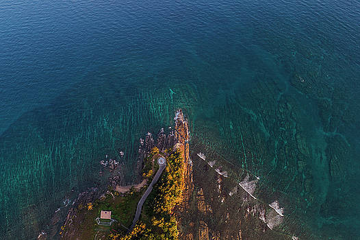 Tip of Borneo view point from above, Malaysia by Pradeep Raja PRINTS