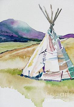 Tipi at Music Meadows by Cheryl Emerson Adams