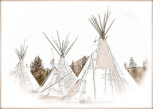 Tipi Camp by Amy G Taylor