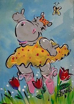 Tiptoe Thru the Tulips by Terri Einer