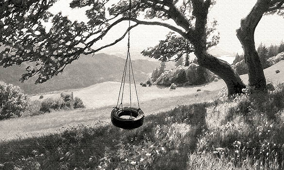 Tire Swing Sepia  by Kevin Felts