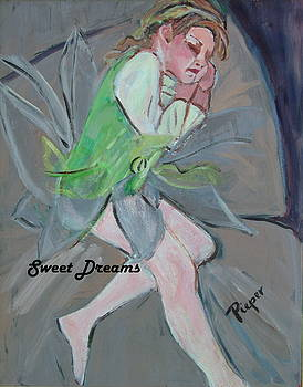 Tired Child in Fairy Costume by Betty Pieper