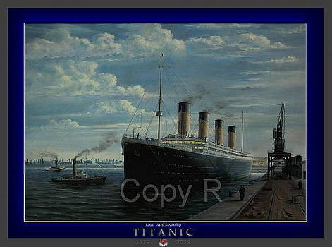 Titanic at berth 2 POSTER by Marko Lulic