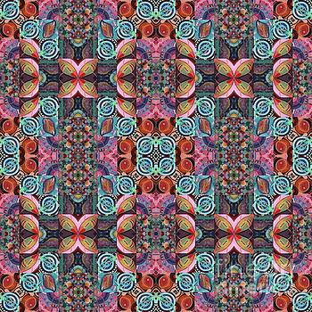 T J O D Mandala Series Puzzle 7 Arrangement 2 Multiplied by Helena Tiainen
