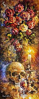 To Be Or Not To Be - PALETTE KNIFE Oil Painting On Canvas By Leonid Afremov by Leonid Afremov