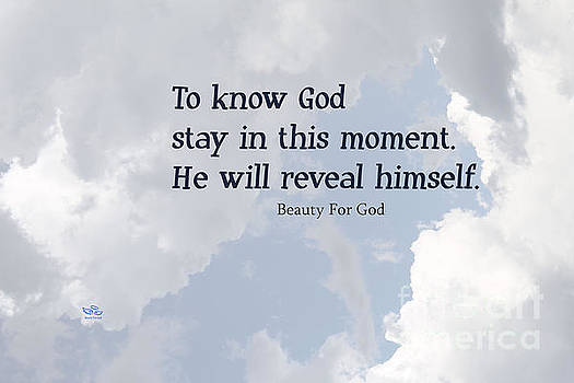 To Know God by Beauty For God
