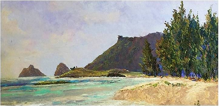 To Lanikai from Kailua  by Ed Furuike