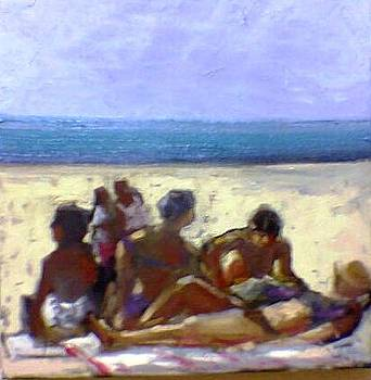 To the beach by George Siaba