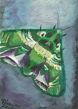 To The Light Green Moth by Monica Resinger