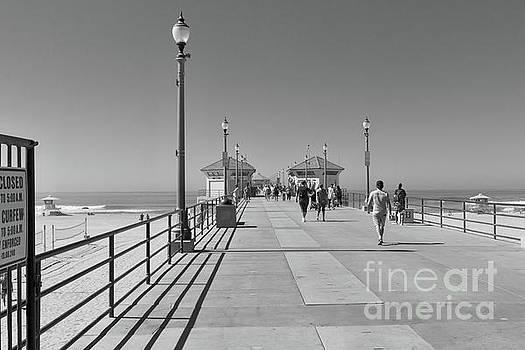 To The Sea on Huntington Beach Pier by Ana V Ramirez