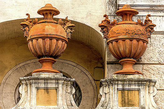 Two Urns Rome Italy by Xavier Cardell