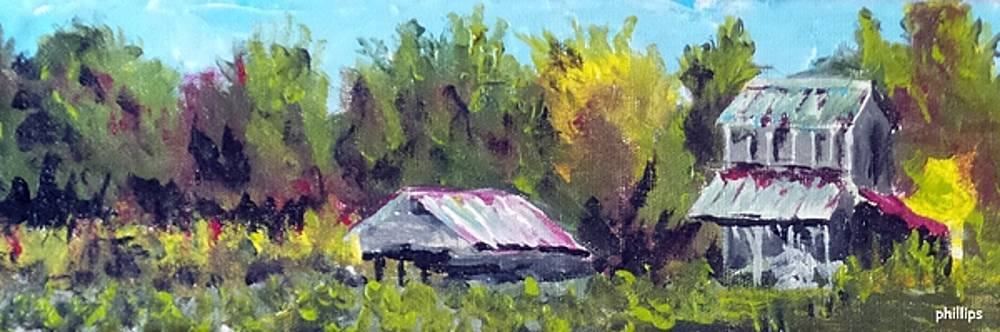 Tobacco Barn on Deppe Loop Rd by Jim Phillips