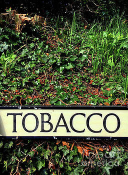 Tobacco sign by Tom Gowanlock