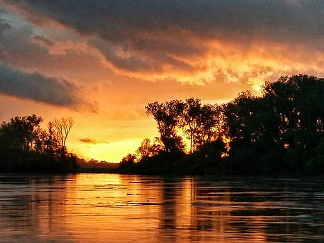 Today's sunrise in Atchison.  by Dustin Soph