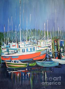 Tofino harbor by Kathy Meredith