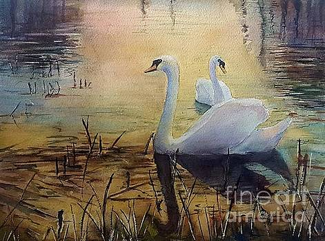 Together At Sunset by Patricia Pushaw