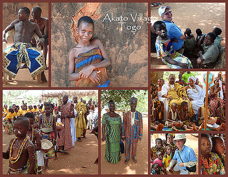 Togo Village in west Africa Collage by David Smith