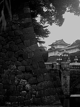 Tokyo Imperial Palace in black and white by Keira MacVinish