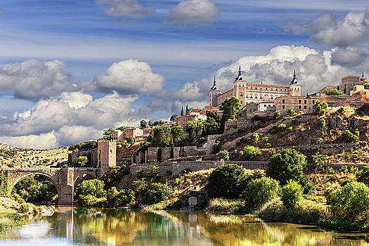 Toledo. Majestic stone fortress the Alcazar is visible from any part of the city by George Westermak