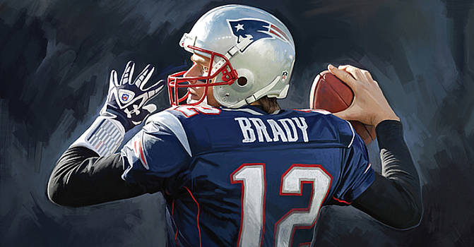 Tom Brady Artwork by Sheraz A
