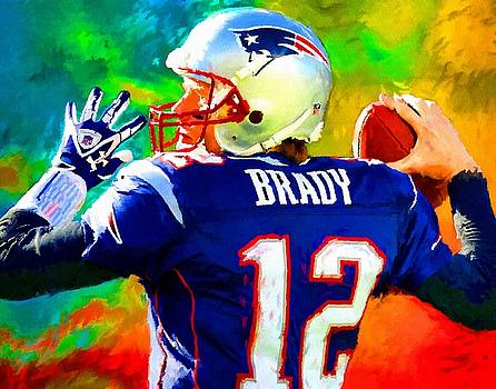 Tom Brady Football Art Painting by Andres Ramos